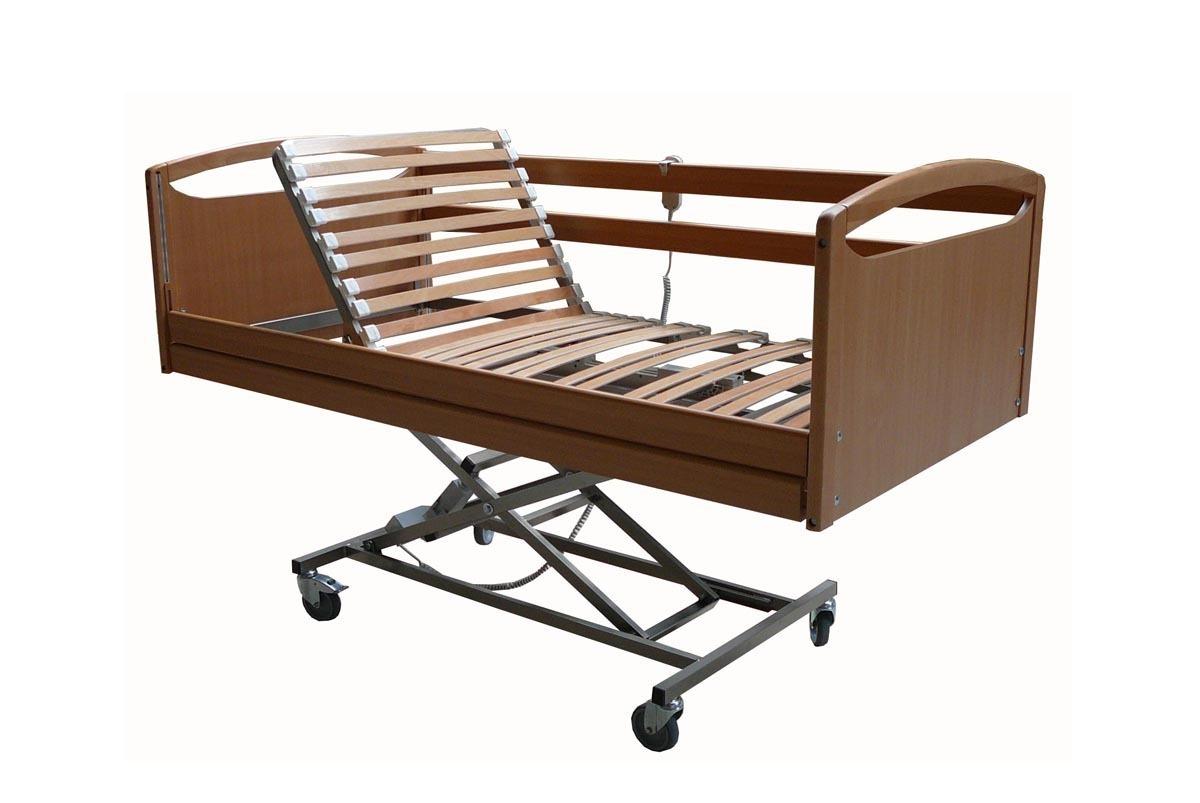 Cama geriatrica completa madera 105 x 190 cm for Cama completa precio