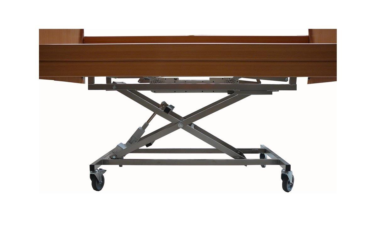 Cama geriatrica completa madera 105 x 190 cm for Precio somier 105 x 190