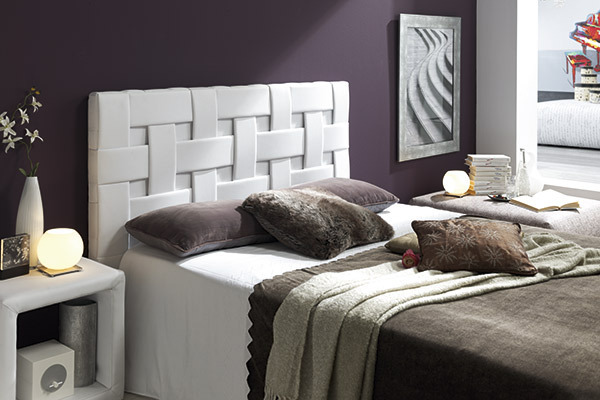 Cabecero trenzado 90 cm para cama de 80 cm for Cabeceros tapizados fotos