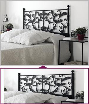 Cabeceros tapizados 100 cm para cama de 90 cm - Cabecero cama 180 ...