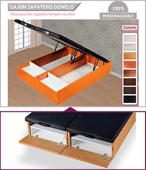 Canap abatible madera 200 x 200 cm latiendadecolchones com for Canape con zapatero