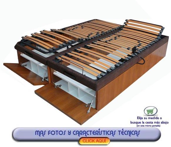 Canape articulado electrico con zapatero gemelo 200 x for Canape con zapatero
