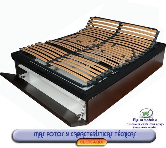 Canape articulado electrico con cajon zapatero 75 x 180 cm for Canape con zapatero