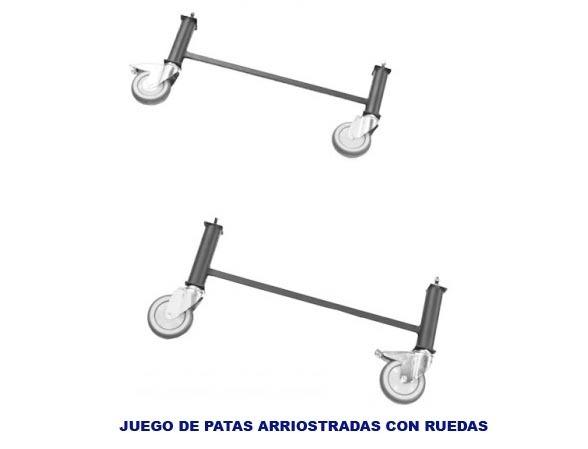 Juego de patas con ruedas latiendadecolchones com for Patas con ruedas