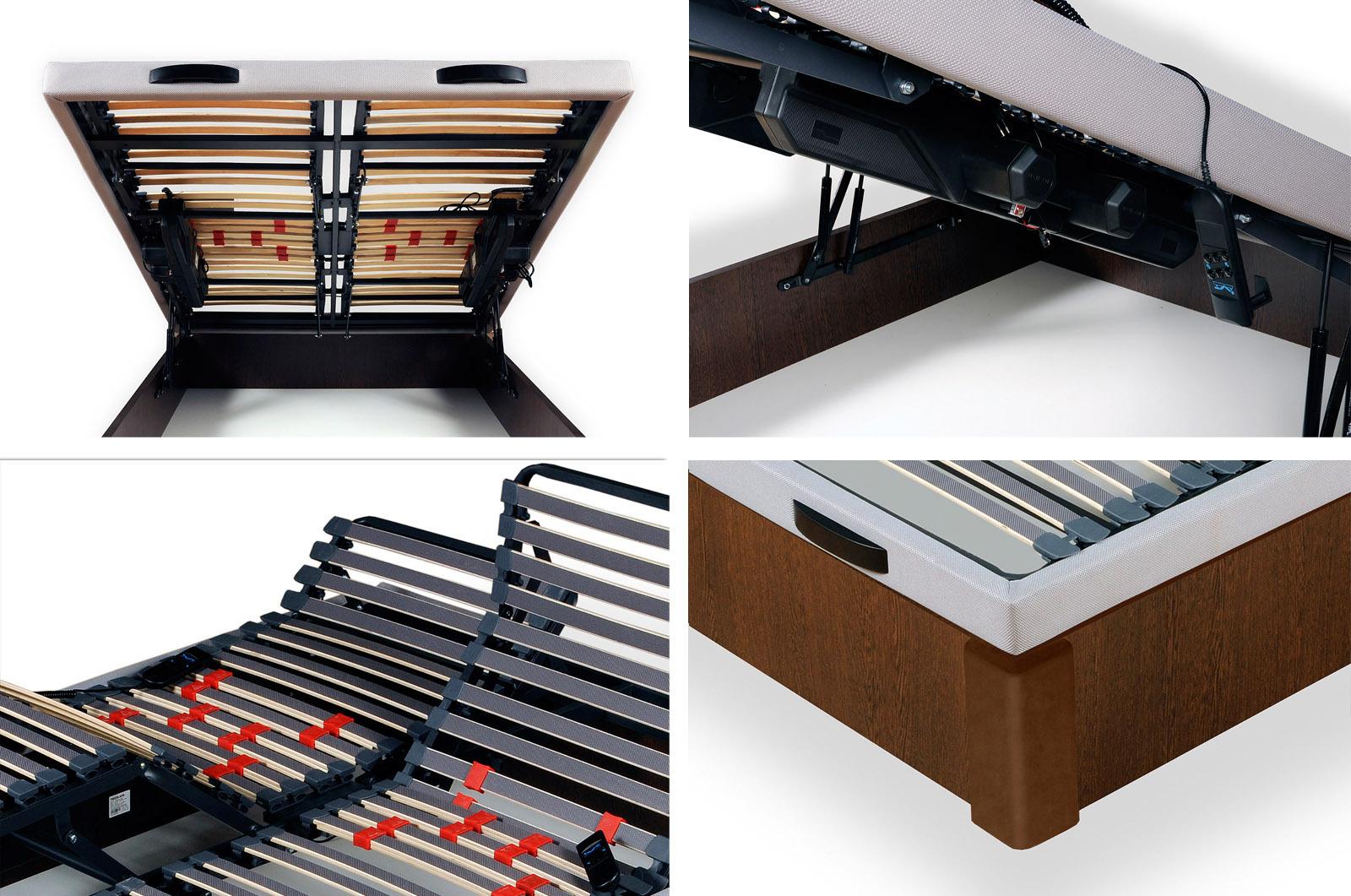 CANAPE ARTICULADO ELECTRICO (UN SOLO CANAPE/ SOMIER CON DOBLE ARTICULACION)-150 x 190 cm