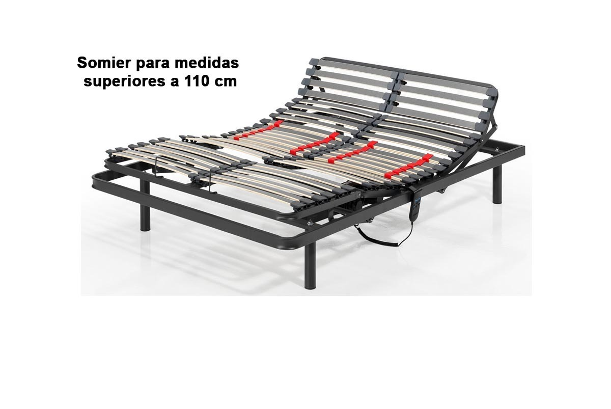 SOMIER ARTICULADO PALAS CON CARENADO - 90 x 190 cm