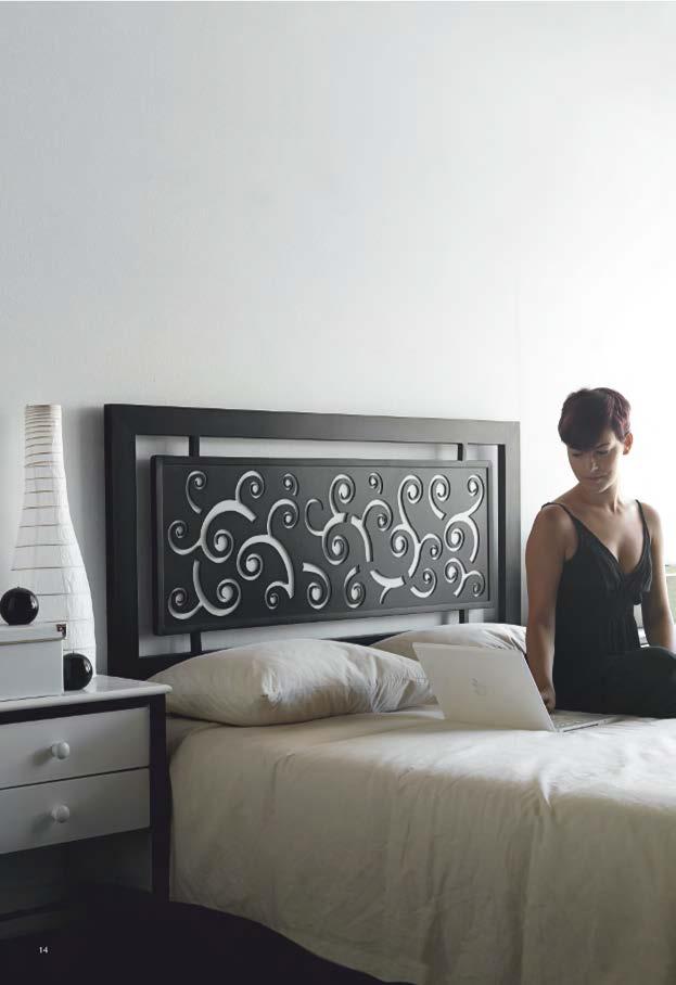 CABECERO FORJA MODELO 1028 95 cm (cama de 90 cm)